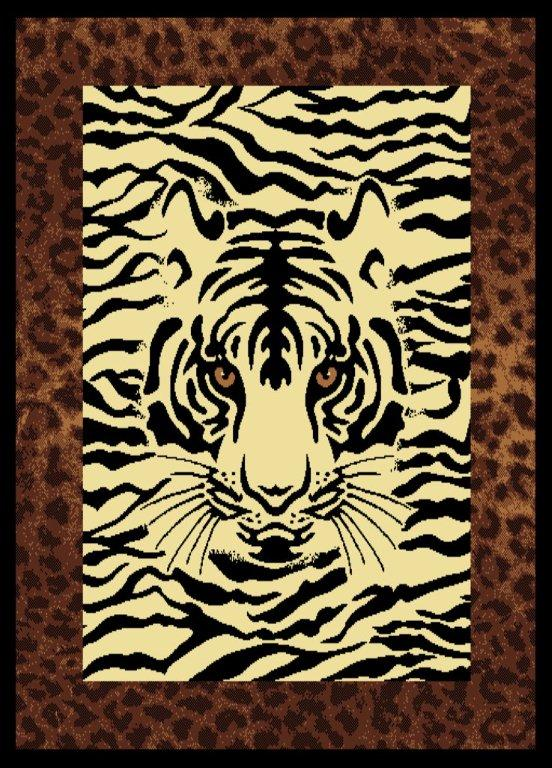 Hidden Eyes White Tiger Rug