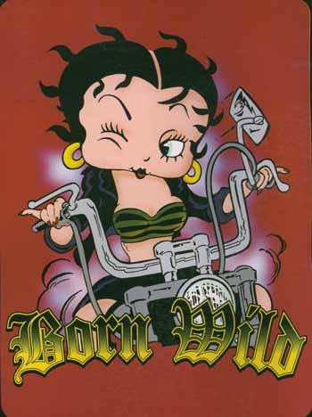 ... The Betty Boop Born To Be Wild Korean Mink Blanket Measures 60 X 80  Inches And