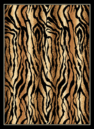 Tiger Print Rug By Safari Collection